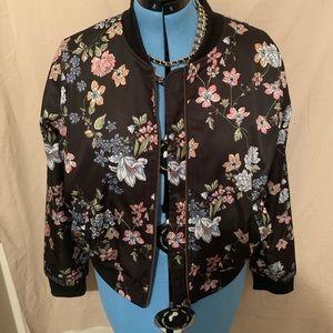 Floral Bomber Jacket- XL